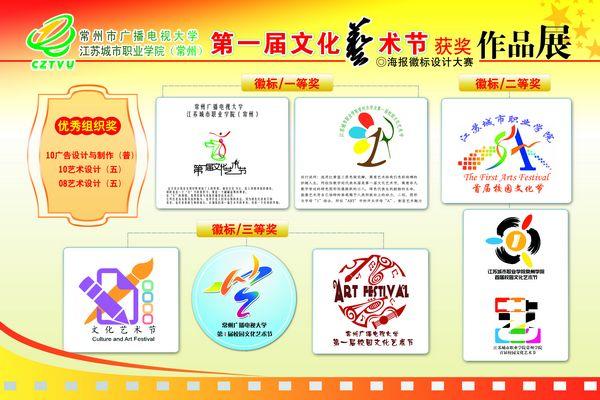 新城市小学校园徽标; 常州电大首届文化艺术节之徽标海报设计作品展